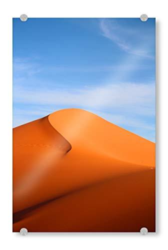 artboxONE Acrylglasbild 30x20 cm Natur Desert Dream Bild hinter Acrylglas - Bild wüste düne Orient