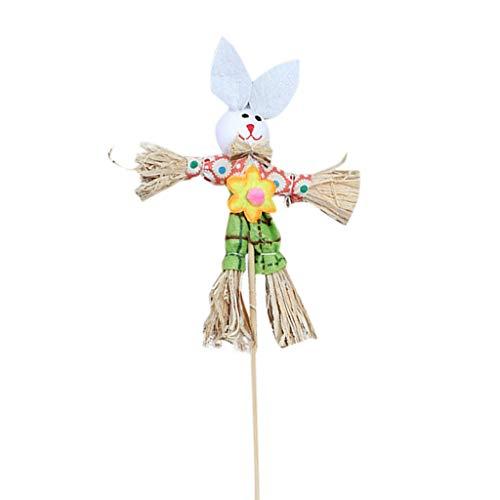 myfilma ❤❤ Easter Bunny Theme Handheld Vogelscheuche Vliesstoff Stroh Material Spielzeug