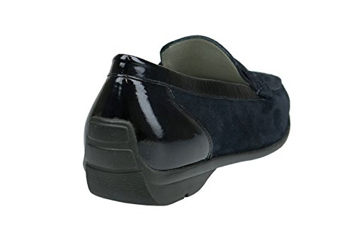 Waldläufer Waldläufer Damen Slipper, Mocassini donna Blu blu Blu (blu)