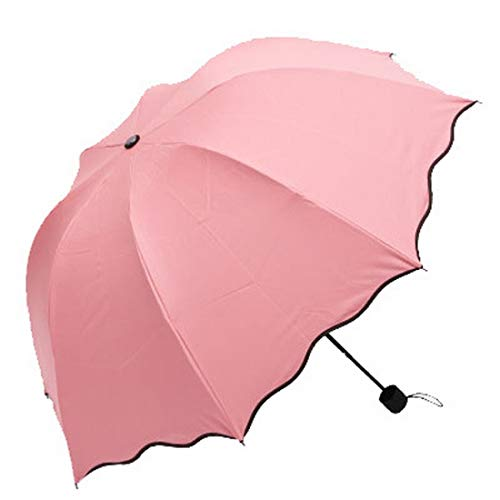 Ysprings Paraguas a Prueba de Viento de floración a Prueba de Viento Paraguas Plegables Grandes y Grandes Paraguas de Tres Personas a Prueba de Viento Que cambian de Color a Prueba de Viento