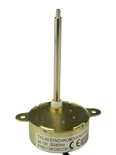 70mm Schaftlange Synchronmotor TYC-40 AC 12V(Wechselstrom) 5RPM CW/CCW Drehmoment 0.5Kg.cm 1W Power