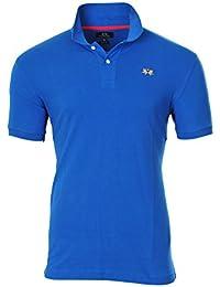 La Martina Polo Poloshirt Hombre Azul Slim Fit algodón Casual S