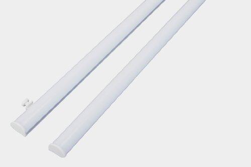 Paneelwagen Set Klemmtechnik / Gleiter für Flächenvorhang / Stoffpaneele für 6 mm Innenlauf, Aluminium, weiß, Breite 60 cm