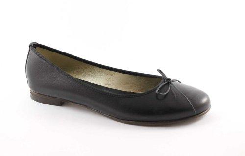 GEMMA 500 nero scarpe donna ballerine pelle fiocco made in italy 39