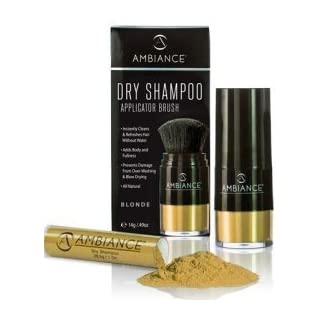 Ambiance Dry Shampoo Combo Pack, Applicator Brush & Refill - Available in 5 Colors - Blonde by Ambiance Dry Shampoo
