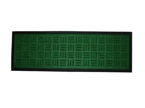Textilstufenmatte mit Gummirücken 75 x 25 cm, Stufenmatte (grün)