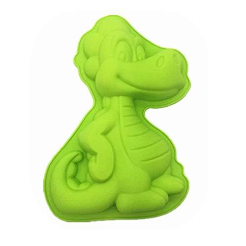 keepingcoox pequeñas en forma de dinosaurio molde de tarta de cumpleaños | novedad silicona Cake Pan para niños | Premium de silicona alimentaria molde para hornear bandeja | 9.45X 1,57x degradado)