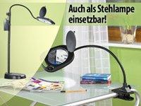 Lunartec 3in1 LED-Schwanenhals-Lupenlampe von Lunartec bei Lampenhans.de