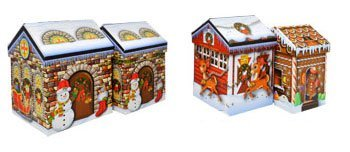 Nesting Box-set (Nesting Christmas House Holiday Gift Boxes (Set of 4) - Assorted Sizes by Greenbrier)