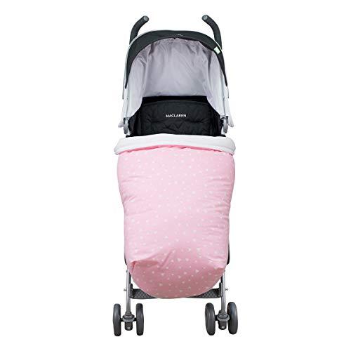 JANABEBE Universal Baby Fußsack für Kinderwagen (PINK SPARKLES, BAUMWOLLE)