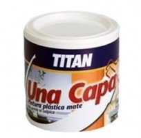 Titan M125512 - Pintura plastica monocapa mate de 5 l canela