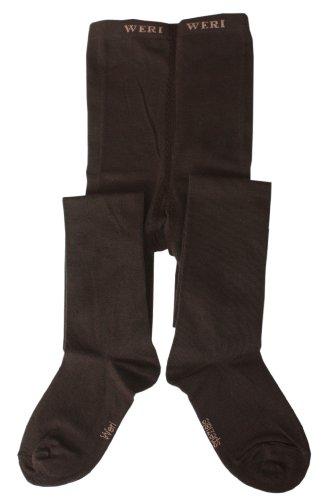 Weri Spezials Weri Spezials Feingestrickte Kinderstrumpfhose in Glatt, Farbe:Schoko , Gr.110-116 (5-6 Jahre)