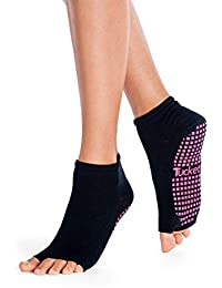 Tucketts Calcetines Yoga Pilates Antideslizante Deporte Mujer, Colchoneta Deporte Accesorios Yoga, Calcetín Dedos para