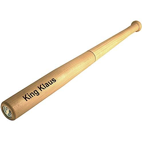 Pfeffermühle King Pepper MIT GRAVUR (z.B. Namen) Baseballschläger-Design von Cole & Mason aus Holz riesen XXL Länge 72 cm große Männergeschenke Grillgeschenke riesige Geschenke für Männer zum Kochen