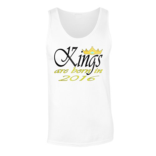 I re reali divertenti di novità sono nati nel 2016 canotta da uomo c455mt White