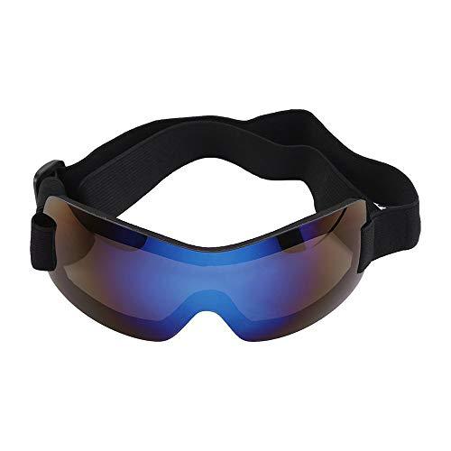 LKIHAH Pet Trend Sonnenbrille UV-Schutz Winddichte Sonnenbrille Für Mittelgroße Und Große Hundesicherheitsbrillen,Blue