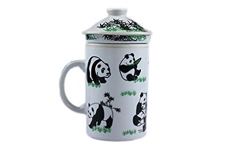 Chinese 3 Piece Mug with infuser. [White Panda] CZ