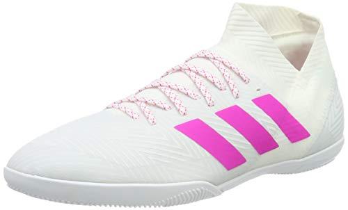 adidas Herren Nemeziz 18.3 in Fußballschuhe, Weiß (Ftwr White/Shock Pink), 45 1/3 EU (10.5 UK)