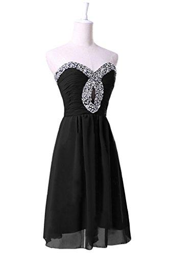 Sunvary elegante Sweetheart breve una linea di garza abito da ballo per cocktail 2016 donne Black