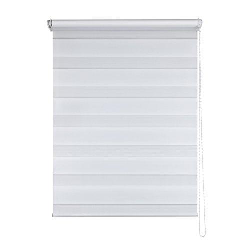 SHINY HOME Store Jour et Nuit Double Store Enrouleur - Blanc - 90x150cm