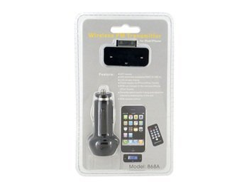 868A Wireless Stereo Remote Control FM Transmitter for Apple iPod iPhone + Worldwide free shiping