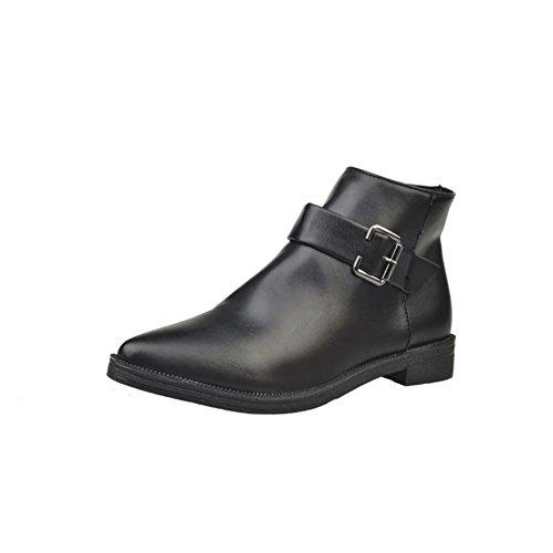 Martin en automne et en hivernales bottes/Boot pointe basse ceinture boucle/ nue de loisirs bottes zip latéral A