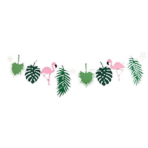 Er Fühlte Sich Tropical Party Bunting Banner Hawaii Blätter Flämische Unterstützung Garlands Foto-Geburtstags-Party-Dekoration-Partei-Dekoration