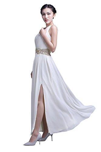 YiYaDawn -  Vestito  - linea ad a - Donna Bianco