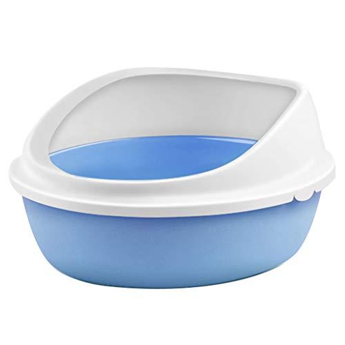 SuyunPP Pet-WC/halb geschlossene Katzentoilette/Deodorant-Anti-Splash-Tierbedarf