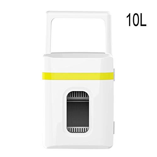 Lyy - 8866 Kühlschrank Kühl Gefrier Gefrierschrank Auto kühlschrank, tragbare Thermoelektrische Kfz-Wärme - & Kühl-Box, 10L, 12V, für Auto und Camping Autokühlschrank (Color : Yellow)