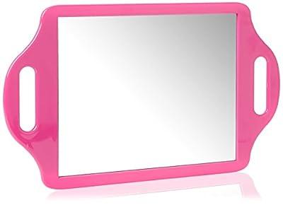 Matty Bond Street Hairdressing Beauty Salon Mirror with Twin Handle Pink produced by Matty Bond - best deals