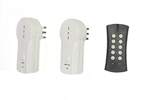 Electraline 48501 prese elettriche radiocomandate con telecomando, italiana