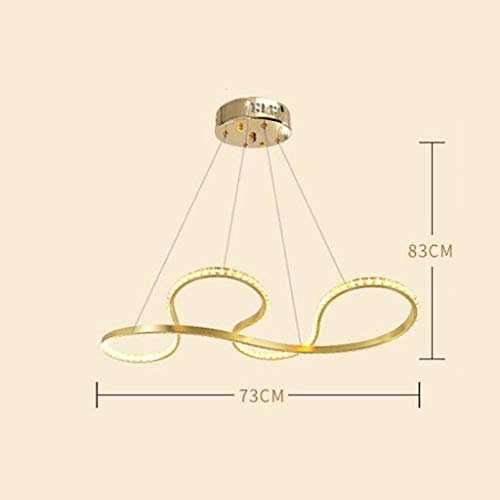 XHX Luces colgantes, lámpara de araña de cristal moderna de lujo, luz de techo moderna, lámpara de araña, iluminación para sala de estar, bares, restaurante, cafetería,Amarillo cálido