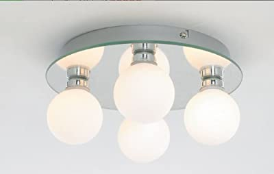 Marco Tielle runden spiegeln 4- Licht mit opal aus Glas Badezimmer Badleuchte Deckenleuchten Deckenleuchte / Beleuchtung mit 4 x 25W G9 (inclusiv) IP44