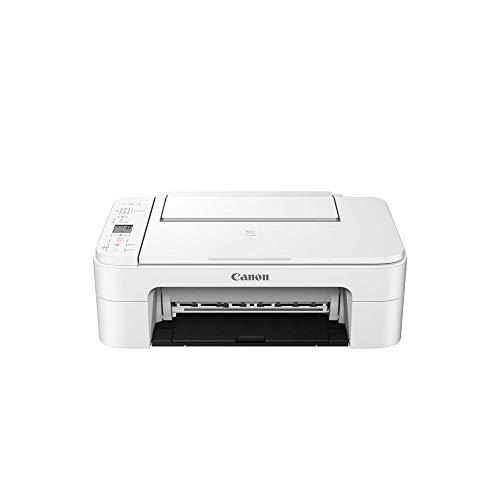 Canon PIXMA TS3351 Imprimante Multifonction Couleur avec Impression Couleur, numérisation, Copie, écran LCD de 8 cm, Wi-FI, Application d'impression 4800 x 1200 PPP Blanc