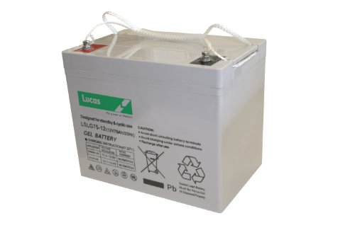 Lucas VRLA/AGM Standby & Cyclic Mobility Equipment Battery 12V 75AH