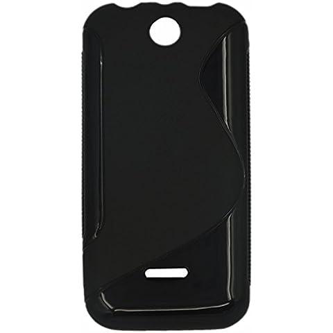 S Line TPU flexible de protección Carcasa Funda para Nokia 225 Negro