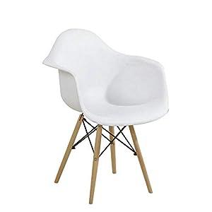 CN Nordic Massivholz Esstisch Und Stuhl Kombination Lässig Kunststoff Stuhl Einfach Eames Esszimmerstuhl Zurück Computerverhandlung Hotel