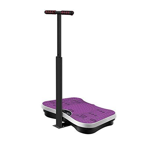 ZHYJJ 4D Vibrationsplatte - Leistungsstark Mit 2 Leisen Motoren   Leicht Zu Bedienen   Magnetfeldtherapie Massage   Ultra Komfort,Purple