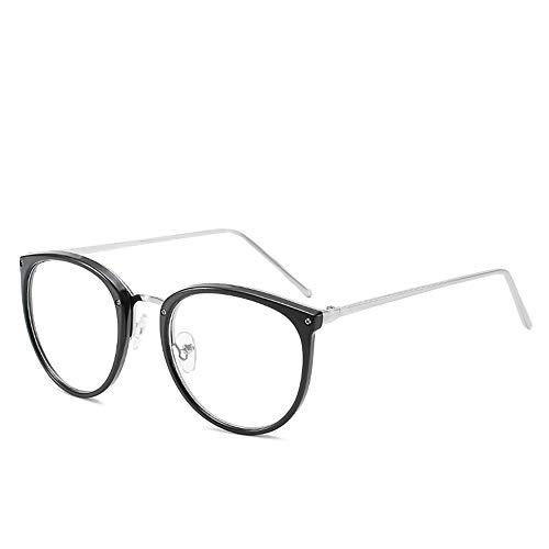 XCYQ Brillengestell Optische Linse Brille Frauen Myopie Brillengestelle Trend Metall Brille Klare Linsen Frauen Brille, A