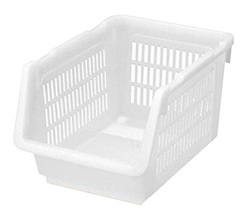 Black Temptation Set 2 Organizer 34.6x24x20cm Weiß stapelbare Aufbewahrungsbox Bin Storage Basket