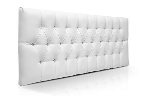 SUENOSZZZ-ESPECIALISTAS DEL DESCANSO Cabecero de Cama de 90 Modelo Copenhague, Color Blanco...