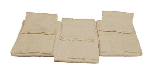 Caleffi la Casa dei Sogni Set 3 Asciugamani e 3 Ospiti, 100% Cotone, Bianco, 55x105x0.3 cm