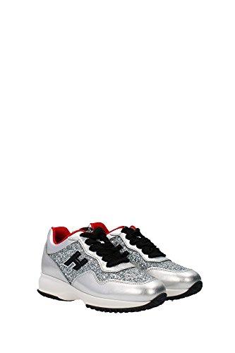 GYW00N0V270DP81920 Hogan Sneakers Femme Cuir Argent Argent