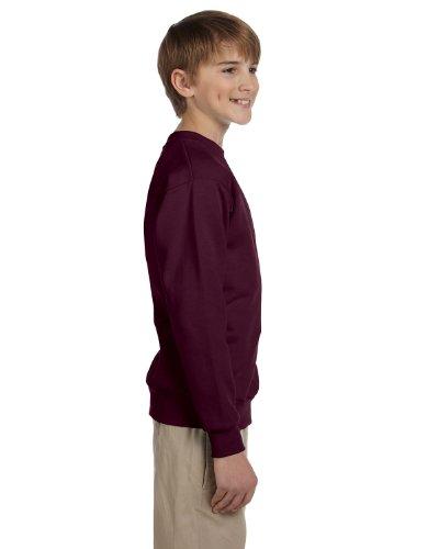 Jungen Jugend ComfortBlend EcoSmart Crewneck Sweatshirt (P360) -Maroon-L