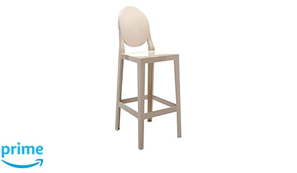 Kartell 5891g2 one more sgabello sabbia 2 pezzi: amazon.it: casa e