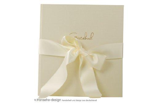 V. transehe design libro degli ospiti matrimonio serie Chamois