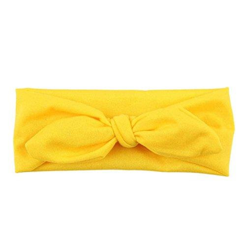 BZLine® Frauen Yoga elastischen Haarband Turban Haar Band Stirnband (Gelb)