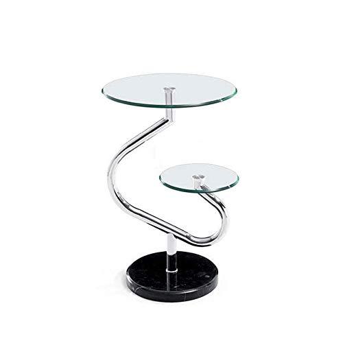Desk Xiaolin Moderne Glas Sofa Beistelltisch Marmor Couchtisch Schlafzimmer Metallrahmen Nachttisch 15,7'× 25,1'
