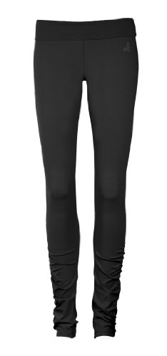 CURARE Damen Yoga Leggings Roll Down, black, M, Flow #36 (Roll-down-yoga-hosen)